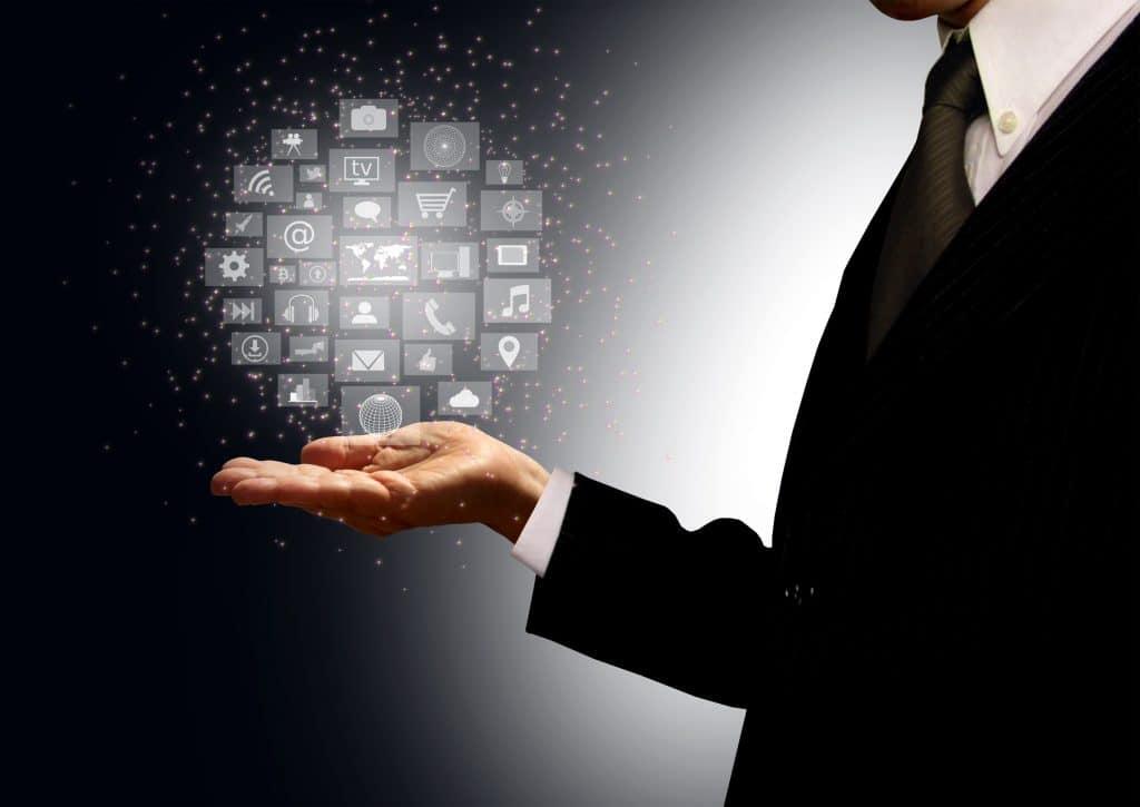 Affiliate Marketing Statistics - Businessman Holding Information Technology Hologram